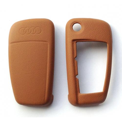 Audi - Lederen sleutelbescherming - cognac bruin