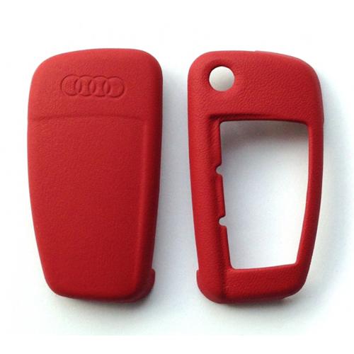 Audi - Lederen sleutelbescherming - karmijnrood