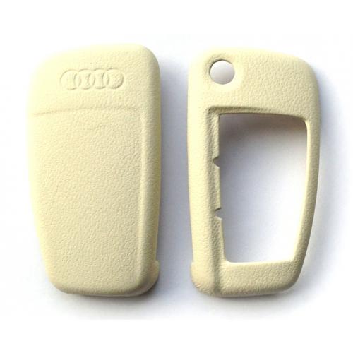 Audi - Lederen sleutelbescherming - albatros wit
