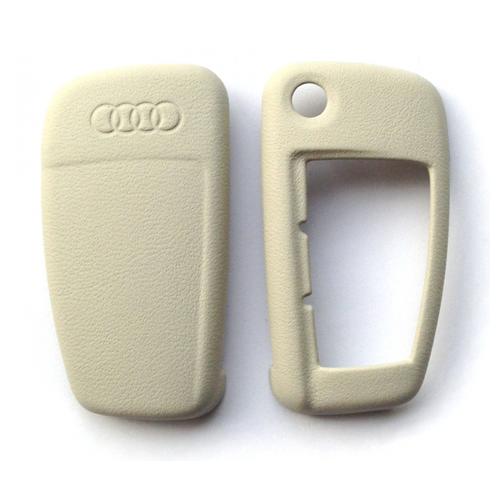 Audi - Lederen sleutelbescherming - parelgrijs